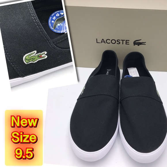 b425f7ee3 Lacoste Other - Lacoste Men Marice Black Canvas Slip Sneakers.9.5